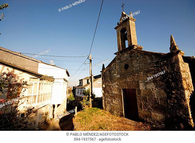 Church of Santiago in Mouruas town, Orense province, Spain