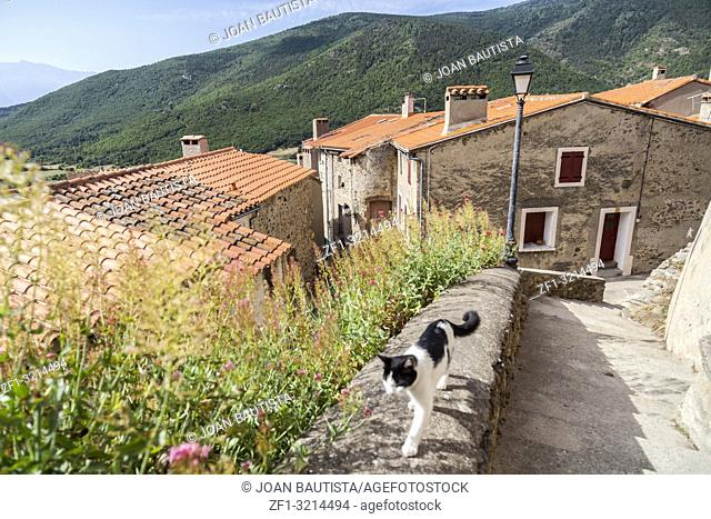 Village view, small and picturesque french village,member of Les Plus Beaux Villages de France (The most beautiful villages of France)