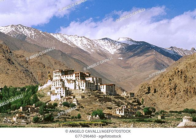 Likir Monastery in Ladkh. Jammu and Kashmir, India