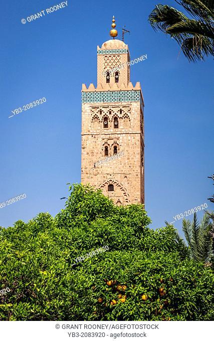 The Koutoubia Mosque and Gardens, Marrakech, Morocco
