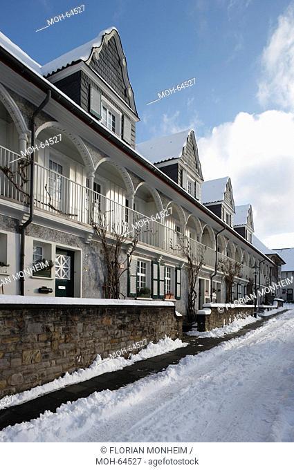 Essen, Siedlung Margaretenhöhe im Schnee