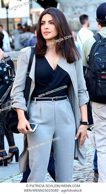 On the set of 'Quantico' with Priyanka Chopra filming in New York City Featuring: Priyanka Chopra Where: NYC, New York, United States When: 13 Jul 2016 Credit:...