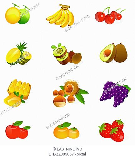 Different types of fruits