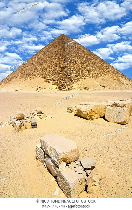 The Red Pyramid Senefru or Snefru Pyramid, Dahshur, UNESCO World Heritage Site, near Cairo, Egypt, North Africa, Africa