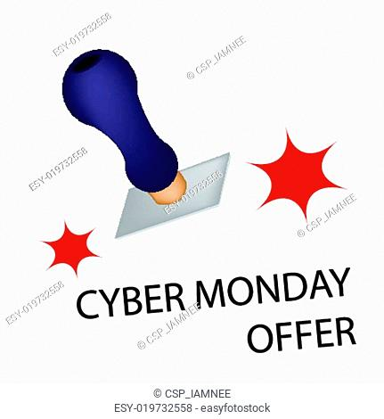 A Rubber Stamp With Word Cyber Monday Offer