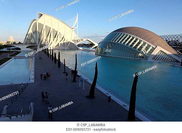 Valencia architectural complex City of Arts and Sciences (Ciudad de las Artes y las Ciencias), Spain