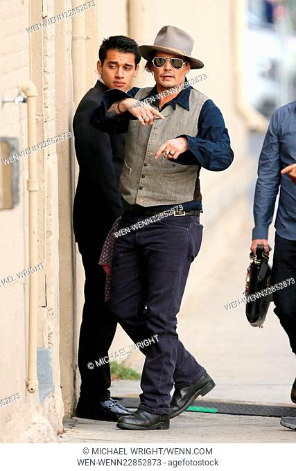 Johnny Depp seen arriving at ABC studios for Jimmy Kimmel Live Featuring: Johnny Depp Where: Los Angeles, California, United States When: 09 Sep 2015 Credit:...