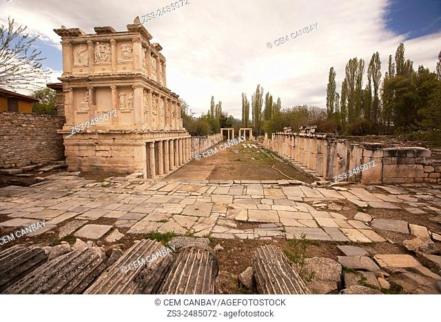 Sebasteion complex in the ancient ruins of Aphrodisias, Aydin Province, Aegean Coast, Turkey, Europe
