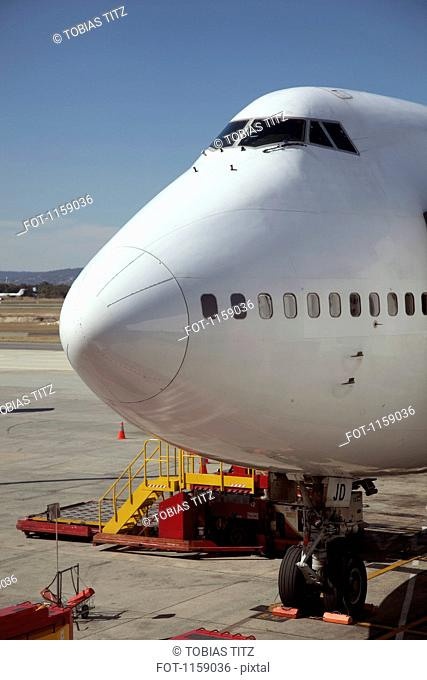 Jumbo jet on runway