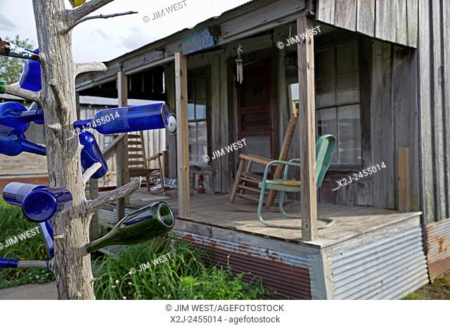 Clarksdale, Mississippi - Accomodations at the Shack Up Inn on the Hopson Plantation, where guests stay in old sharecropper shacks