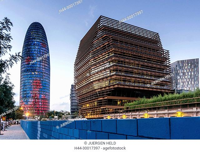 Spain, Catalonia, Catalunya, Barcelona, Torre Agbar, Head Offices Of CMT, Jean Nouvel
