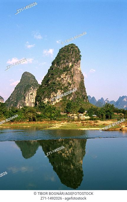 China, Guangxi, Yangshuo, landscape, scenery