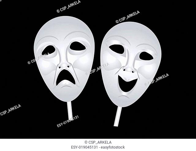 theater masks of drama and comedy