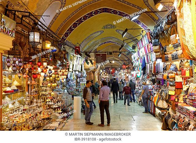 Grand Bazaar or Kapali Çarsi, Beyazit, European part, Istanbul, Turkey