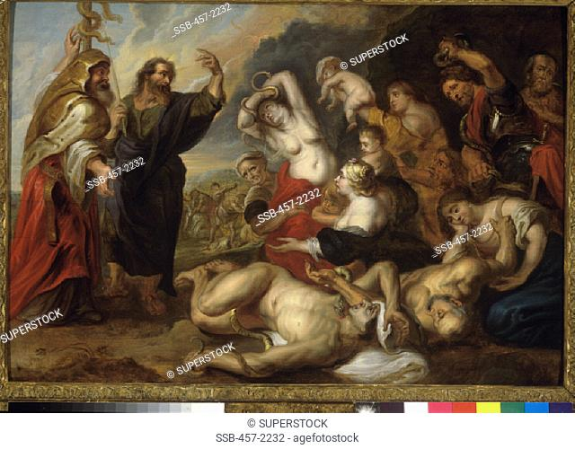 The Bronze Snake School of Peter Paul Rubens (1577-1640/ Flemish) Oil on canvas Pinacoteca Sabauda, Torino, Italy