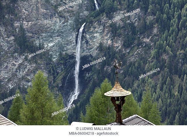 Austria, Carinthia, Heiligenblut (village), Jungfernsprung (waterfall)