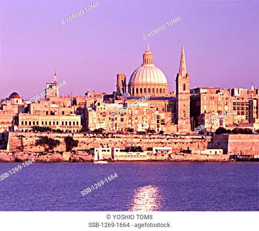 Buildings on the waterfront, Valletta, Malta