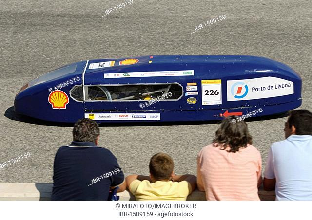 Electric car on the race track at Cartagena, Murcia, Spain, Europe