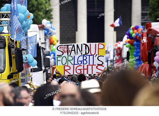 Paris Gay Pride 2017, 24 th june, France