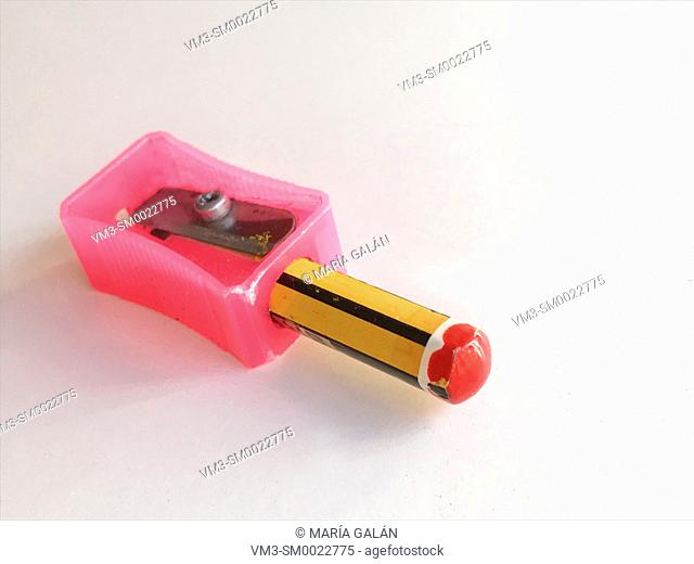 Sharpener with a tiny pencil