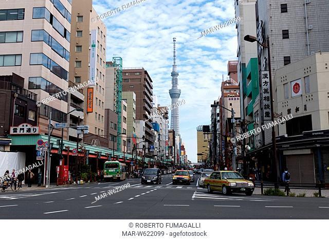 Skytree tower and Asakusa district, Tokyo, Japan