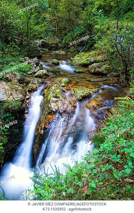 Alba River. Redes Natural Park and Biosphere Reserve. Soto de Agues. Concejo de Sobrescobio. Asturias. Spain