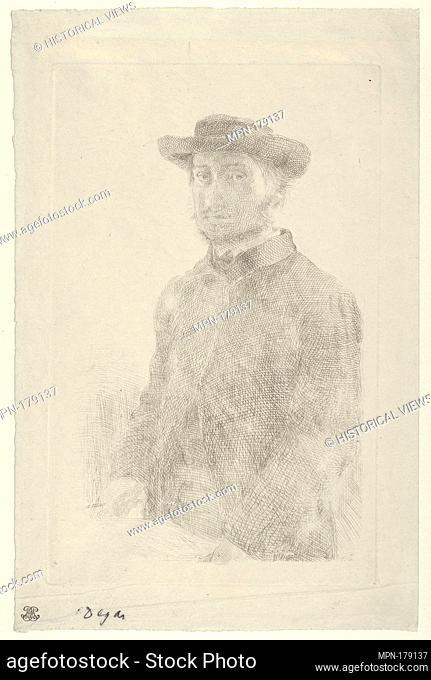 Self-portrait. Artist: Edgar Degas (French, Paris 1834-1917 Paris); Sitter: Portrait of Edgar Degas (French, Paris 1834-1917 Paris); Date: 1857; Medium: Etching...