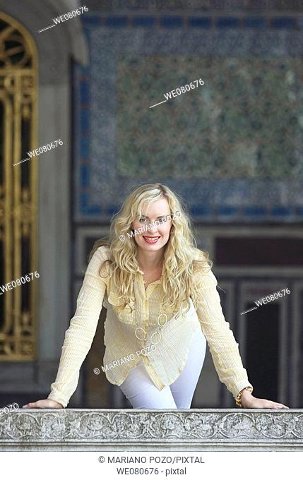 30 year old woman at Topkapi Palace, Istanbul. Turkey