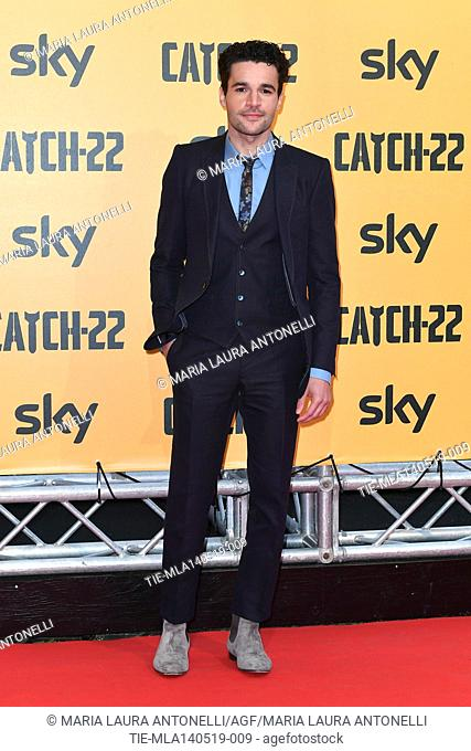 Christopher Abbott during the Red carpet for the Premiere of film tv Catch-22, Rome, ITALY-13-05-2019