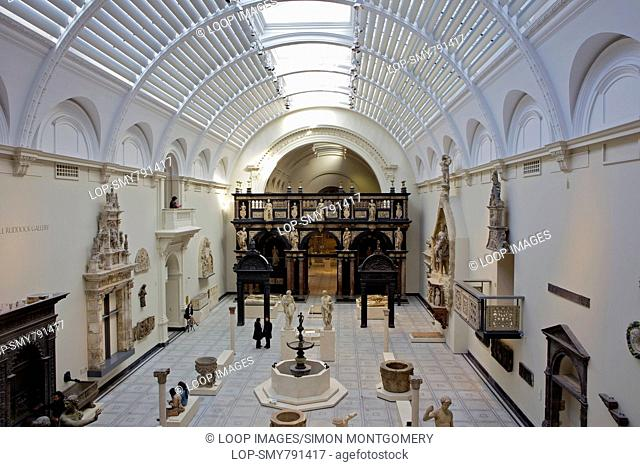 Medieval and Renaissance Gallery at the Victoria and Albert Museum in Kensington