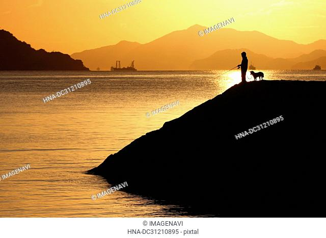 Silhouette at evening