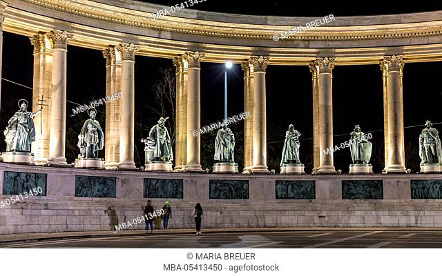 Heroes' Square, Hsök Tere, UNESCO world cultural heritage, district Pest, Budapest, Hungary, Europe
