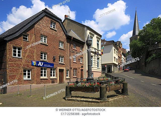 Germany, Moenchengladbach, Niers, Lower Rhine, Rhineland, North Rhine-Westphalia, NRW, Old Town, Historic Arsenal at the Abteiberg, brick building