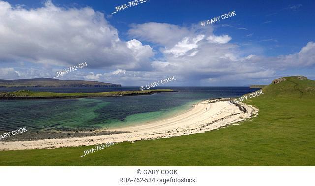 Coral Beach at An Dorneil, Loch Dunvegan, Isle of Skye, Inner Hebrides, Scotland, United Kingdom, Europe