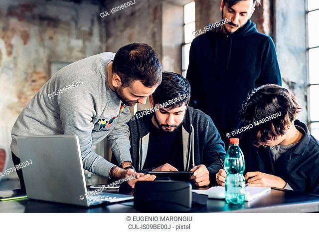 Designers brainstorming in studio