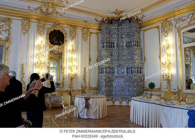 Catherine Palace in Tsarskoye Selo (Pushkin) near St Petersburg. Taken 10.06.2017. The palace, located in the expansive Catherine Park