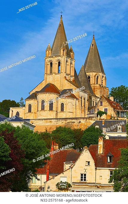 Loches, Saint Ours Church, Indre-et-Loire, Touraine, Pays de la Loire, Loire Valley, UNESCO World Heritage Site, France