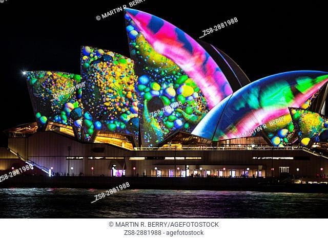 Sydney,Australia,Tuesday 30th May 2017. Vivid Sydney light show at Circular Quay