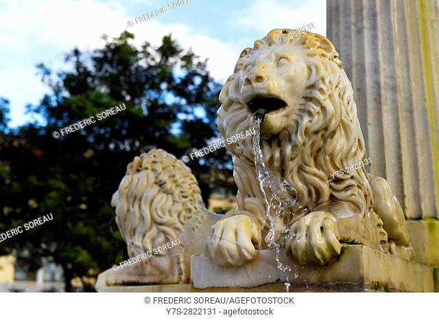 Fuente de los leones, fountain,Plaza de San Francisco de Asis,Havana Vieja, Cuba