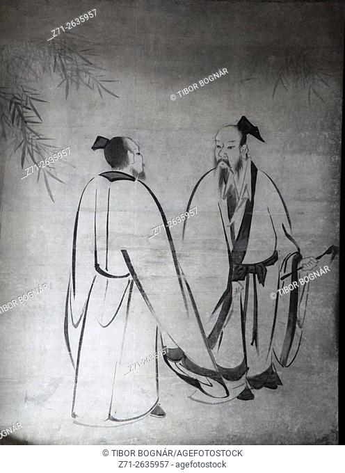 Japan; Kyoto, Kenninji Temple, interior, painting,