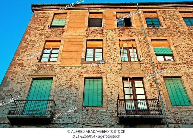 Building rehabilitation, Cardona, Catalonia, Spain