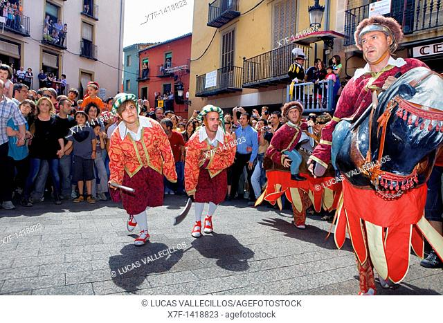 `Turcs i cavallets'Turks and horses-Turcos y caballitos `Patum de Lluiment' Patum de lucimiento-showcasing Patum Plaça de Sant Pere  La Patum Masterpiece of...