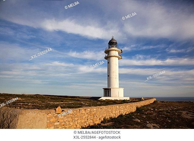 Barbaria lighthouse, Formentera. Balearic islands. Spain