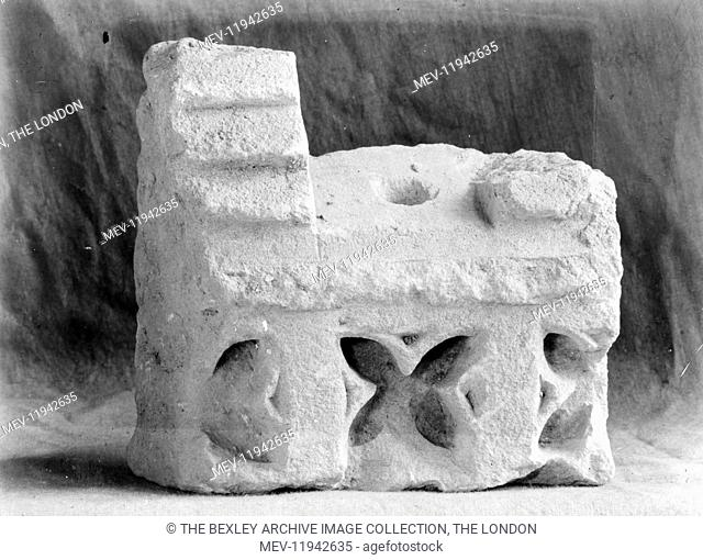 Lesness Abbey - Miscellaneous Object (possibly part of Dog's-tooth Arch from Chancel), 1915. The archeological excavations of Lesnes Abbey carried out by the...