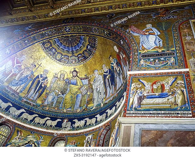 12th and 13th-century mosaics in the apse of the Basilica of Santa Maria in Trastevere - Rome, Italy