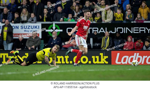 2017 Skybet Championship Football Burton v Nottingham Forest Mar 11th. March 11th 2017, Burton on Trent, Staffordshire, England; Skybet Championship football