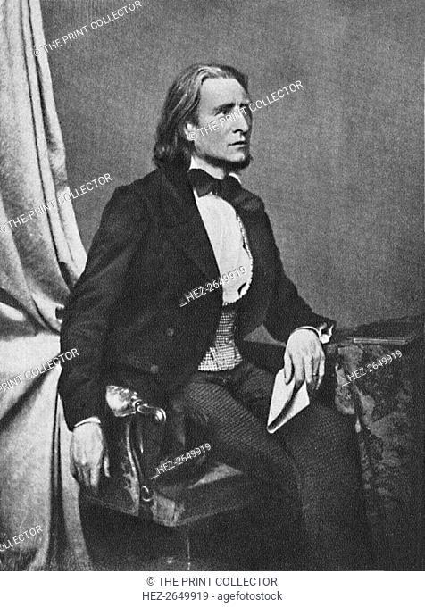 'Franz Liszt', c1860, (1939). Artist: Franz Seraph Hanfstaengl