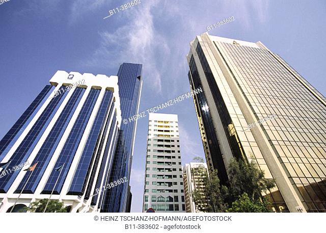 Abu Dhabi, Stadt, Hochhaus, Geschäftsgebäude, Moderne Architektur,  Hochhäuser, Wohnhäuser City