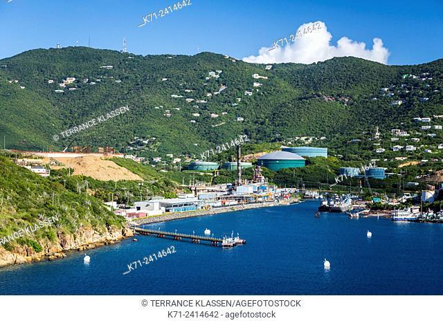 The Crown Point marina a cruise ship dock at Charlotte Amalie, St. Thomas, US Virgin Islands, Caribbean
