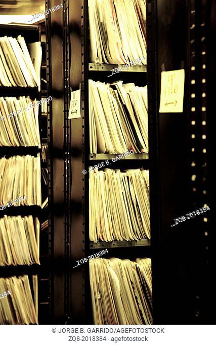 Vinyl records shop. chicago